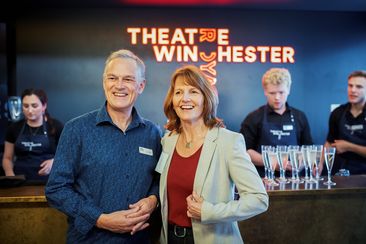 Deryck Newland and Kirstie Mathieson, Play to the Crowd's Marketing and Communications Director