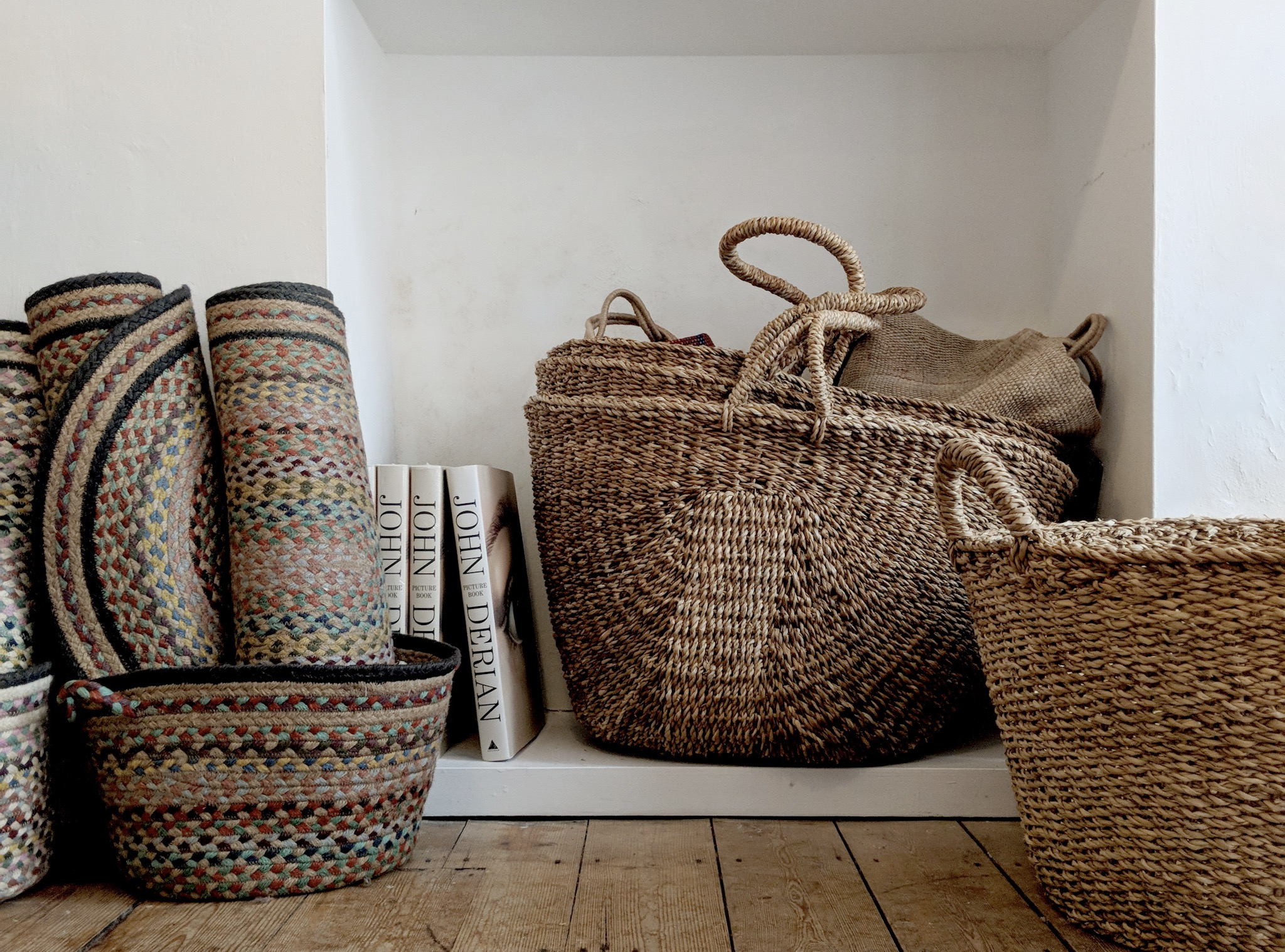 Rustic Woven Baskets at The Hambeldon, Winchester