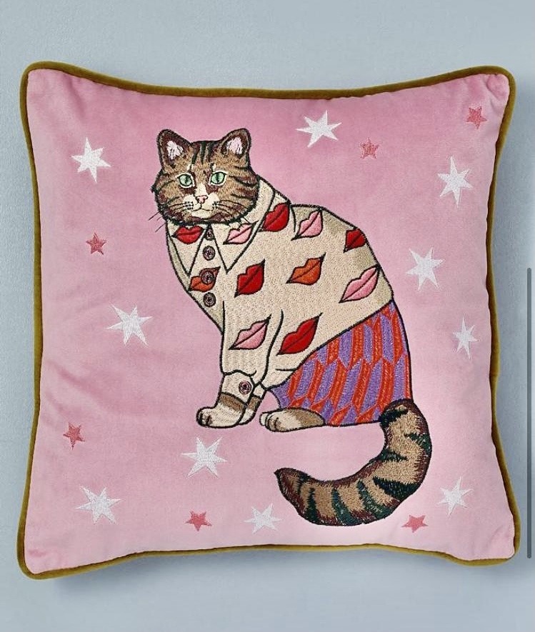 Cosy Cat Pillow from Anthropologie